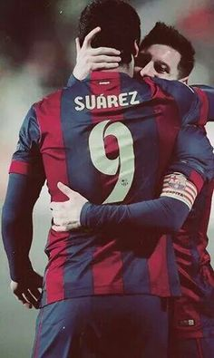 Suarez and messi <3