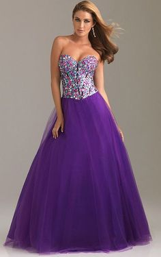 Night Moves Colorful Crystal Prom Dress with Lace-Up Back 6497 at frenchnovelty.com