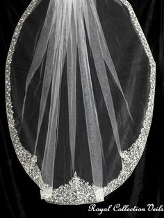 Long Bridal Veils With Swarovski Crystals | We could customize this veil if needed, add a removable long or short ...