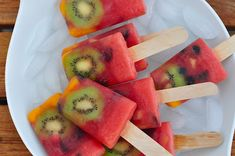 Gorgeous-- Watermelon Whole Fruit Popsicles