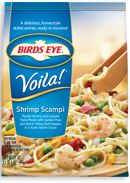 The shrimp scampi variety of Birds Eye Voila is one of the only soy-free convenience meals we've found in the freezer section of our regular grocery store without going to the organic section, etc.