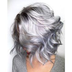 Best brands of purple shampoo - Trend Silver Hair Makeup 2019 Lila Shampoo, Shampoo For Gray Hair, Purple Shampoo For Blondes, Best Purple Shampoo, Hair Shampoo, Pelo Color Plata, Hair 2018, Hair Looks, Hair Inspiration