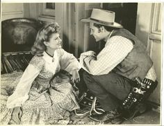 TEXAS (1941) - William Holden & Claire Trevor - Columbia Pictures - Publicity Still.
