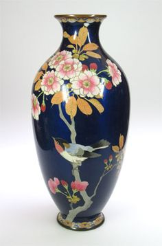 A late 19th or early 20th century Japanese cloisonne vase from Arts of Asia at Grays (Showcase FS04).