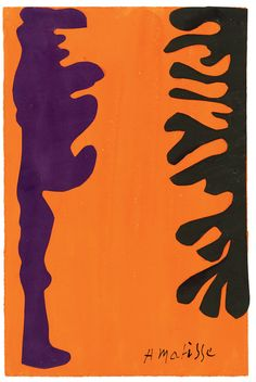 Black And Violet Arabesques On An Orange Background Artwork By Henri Matisse Oil Painting & Art Prints On Canvas For Sale Henri Matisse, Matisse Art, Matisse Paintings, Picasso Paintings, Franz Kline, Willem De Kooning, Arabesque, Mode Collage, Matisse Cutouts