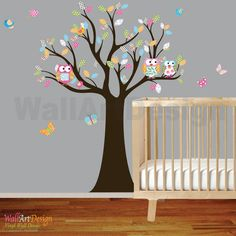 Vinyl Wall Decal Stickers Owl Tree Set Nursery by wallartdesign, $99.00