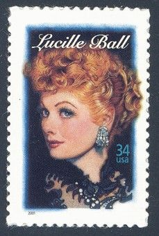 Lucille Ball - Single Stamp 7th in Legends of Hollywood Series United States, 2001