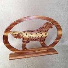 Laser Cut Wooden Dog Golden Retriever Wood Cut Out by DotnBettys