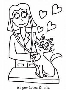 Veterinarian Coloring Page Free