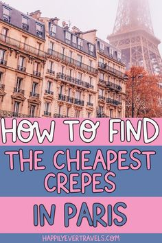 Don't Miss this Secret Local Crepe Place in Paris! Paris France Food, Paris France Travel, Paris Travel Guide, Europe Travel Tips, Places To Travel, Budget Travel, Paris Bucket List, Best Cities In Europe, Cheap Food