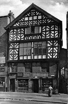 Tudor House Lower Bridge Street Chester 1603 One Of The Oldest Houses In Covered Walkway Rows On This Building Were Bricked Up