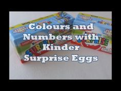 Learn Colours and Numbers with Kinder Surprise Eggs!
