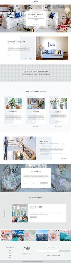 Swish Divi Child Wordpress Theme by Pretty Web Design on Custom Web Design, Custom Website Design, Web Themes, Website Themes, Blog Layout, Premium Wordpress Themes, Custom Homes, Children, Feminine