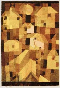 Paul Klee - Herbstlicher Ort (Ansteigende Haeuser)