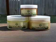 This package will make you feel like you're in a tropical paradise! Treat yourself to an island-inspired spa day at home with our brown sugar facial scrub, pineapple coconut sugar scrub, and tea tree & mint foot scrub. [Organic skincare, beauty, homemade]