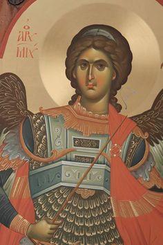Αρχάγγελος Μιχαήλ / Archangel Michael Byzantine Art, Byzantine Icons, Religious Icons, Religious Art, 7 Archangels, Angel Warrior, Archangel Raphael, Angels Among Us, Guardian Angels