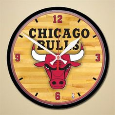 Chicago Bulls Hardwood Dimension Wall Clock for $24.95 #FathersDay