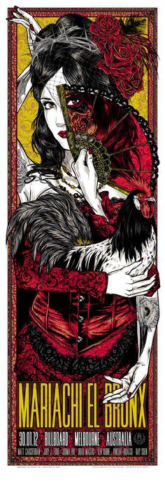 Mariachi El Bronx - 30.01.12 - Señorita | THE ART OF RHYS COOPER - STUDIO SEPPUKU