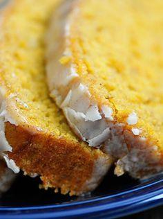 Pumpkin Banana Bread with Vanilla Bean Glaze Recipe
