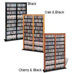 @Overstock - Introduce a stylish media tower to your homeStylish and functional, the Barrister series of 'library storage' is an excellent addition to any roomFully adjustable shelves can be set to any position to accommodate your collectionhttp://www.overstock.com/Home-Garden/Double-Barrister-Media-Tower/1652925/product.html?CID=214117 $167.04