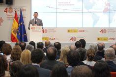 Su Majestad el Rey, durante su discurso Sede del ICEX. Madrid, 29.07.2015