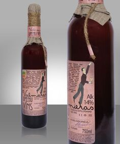 Homespun Bottle Branding - Valmiera Blackcurrant Wine Packaging Exudes an Artisan Image (GALLERY)