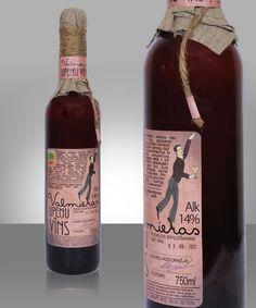 Homespun Bottle Branding - Valmiera Blackcurrant Wine Packaging Exudes an Artisan Image (GALLERY)