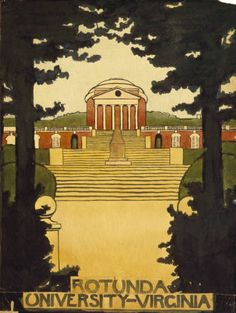 Georgia O'Keeffe. Untitled (Rotunda - University of Virginia) 1912-14