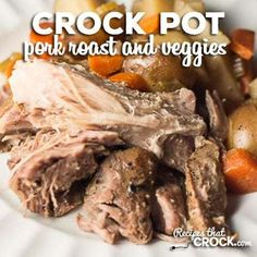 Recipes That Crock! - cRockin' Slow Cooker Recipes All Year 'Round! Delicious crock pot recipes for Pot Roast, Pork, Chicken, soups and desserts! Try our famous crockpot recipes! Slow Cooker Pork Roast, Pork Roast Recipes, Crockpot Recipes, Cooker Recipes, Roast Brisket, Game Recipes, Crockpot Dishes, Beef Tenderloin, Meat Recipes