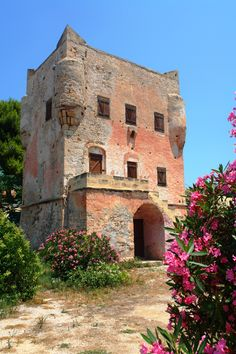 Beautiful historical building of Markelos Tower in Aegina #aegina