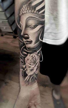 40 Ideas for tattoo sleeve buddha hindu - 40 Ideas for tattoo sleeve buddha hindu You are in the right place about 40 Ideas for tattoo sleeve - Tattoos 3d, Native Tattoos, Paar Tattoos, Trendy Tattoos, Body Art Tattoos, Tattoos For Guys, Tattos, Outer Bicep Tattoos, Upper Arm Tattoos