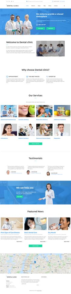 Dental Clinic Joomla Template on Behance
