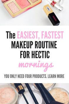Establishing a makeup routine isn't always easy. For some, putting on makeup in the morning can feel Fast Makeup, Makeup Tips, Makeup Tutorials, Elf Makeup, Drugstore Makeup, Makeup Ideas, Prom Makeup, Hair Tutorials, Makeup Cosmetics