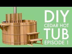 "6' diameter x 4' height clear heart western red cedar wood hot tub construction in San Francisco. 14"" rim deck, 4 jets, gas heater, time clock, air button. h..."