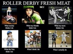 How different people see fresh meat. #rollerderby