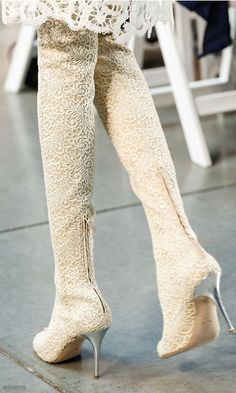 Thakoon Lace Style Boot Spring 2014