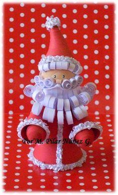 3d Quilled Santa by M .Pilar Núñez - Chile