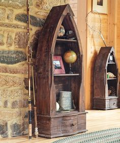 Look at this Distressed Wood Boat Cabinet on #zulily today!