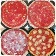 Pizza di farro integrale.  Ottima e leggera.  Panificazione in casa ♥