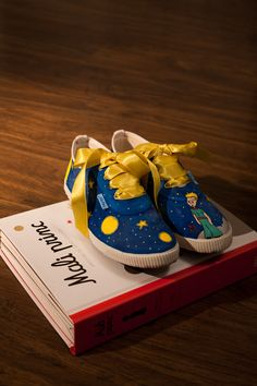 The Little Prince sneakers <3 / Le Petit Prince / custom made for croatian fashion blogger Guerrilla Girl