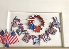 Happy Fourth Banner, Liberty Banner, Fourth of July Banner, of July Garland, Patriotic Photo Pro Easter Garland, Easter Banner, 4th Of July Fireworks, Fourth Of July, 4th Of July Photos, Spring Banner, 4th Of July Decorations, Patriotic Party, Hoppy Easter
