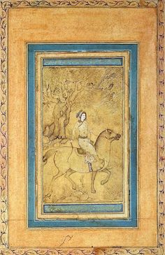 Horseman in a Landscape Miniatures, Indian ink, gouache, white and gold, 13x7.9 cm Origin: Iran, Mid-17th century Source of entry: Museum of the Stieglitz School, 1924 School: Isfahan