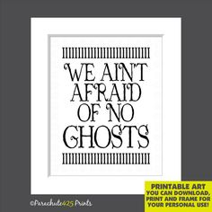 Halloween Typography Print INSTANT DOWNLOAD by Parachute425Prints