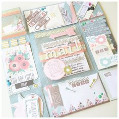 Happy Mail Diy Crafts For Girls, Diy And Crafts, Scrapbooking Layouts, Scrapbook Pages, Snail Mail Pen Pals, Flip Books, Paper Crafts Origami, Flip Cards, Pocket Letters