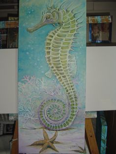 Victoria Maine ~ green seahorse