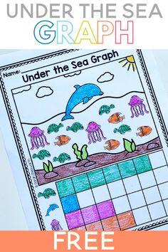Sea Activities, Graphing Activities, Kindergarten Math Activities, Free Preschool, Preschool Activities, Preschool Ocean Activities, Preschool Graphs, Preschool Printables, Montessori
