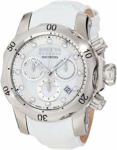 Invicta Women's 0950 Venom Reserve Chronograph White Mother-Of-Pearl Dial White Leather Watch Invicta. $399.99. Save 78%!