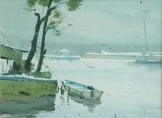 by Vijay Achrekar (b. India Art, Watercolor Paintings, Watercolors, Sketches, Middle East, Boats, Ships, Indian, Drawings