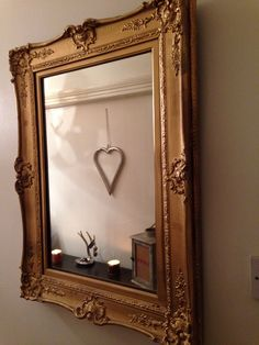 Vintage Mirror - hand painted