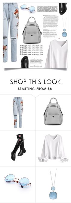 """""""Pleasures"""" by violet-peach ❤ liked on Polyvore featuring Effy Jewelry, Balmain, StreetStyle, denim, beautiful, Great and modeloffduty"""